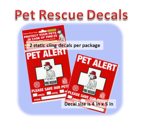 Pet Alert Rescue Decal