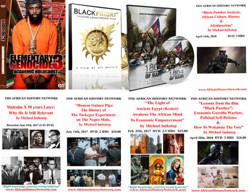 8 DVD 'Black Panther' Bundle Pack - Michael Imhotep