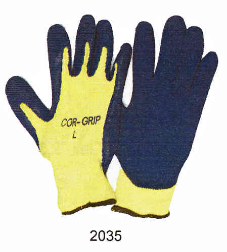 Yellow Knit Gloves w/ Premium Latex