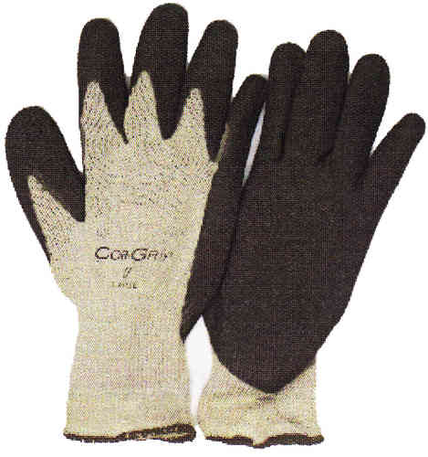Grey Knit Gloves w/Standard Latex