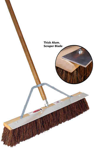 "24"" Palmyra Fiber Floor Brush w/ Eliminator Blade"