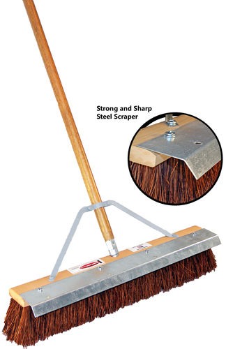 "24"" Palmyra Fiber Floor Brush w/ Steel Blade (Reversible)"