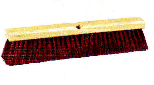 "24"" Maroon Plastic Floor Brush"