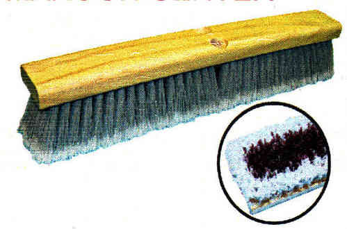 "24"" Gray Flagged, Maroon Center Floor Brush"