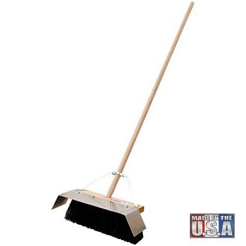 "16"" Black Plastic Street Broom w/ Behemith Blade"