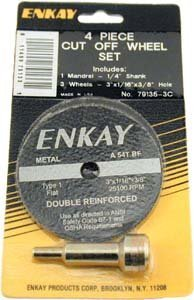 "ENKAY 4 pc. Cut Off Wheel & Amp Mandrel Set, 1/4"" Shank"