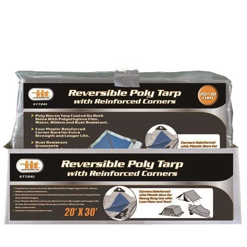 IIT 20' x 30' Reversible Poly Tarp with Reinforced Corners