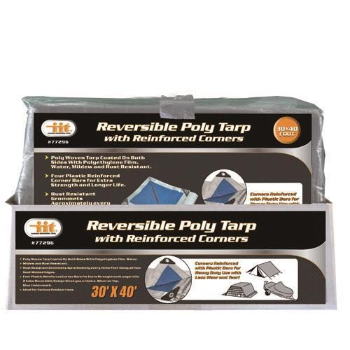 IIT 30' x 40' Reversible Poly Tarp with Reinforced Corners