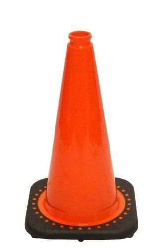 "18"" Orange Traffic Safety Cones with Black Base"