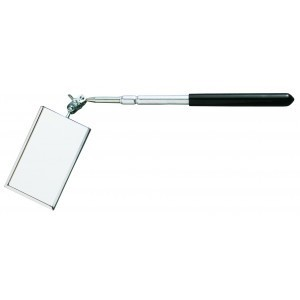 "GENERAL Telescoping 2"" X 3-3/8"" Rectangular Glass Inspection Mirror"