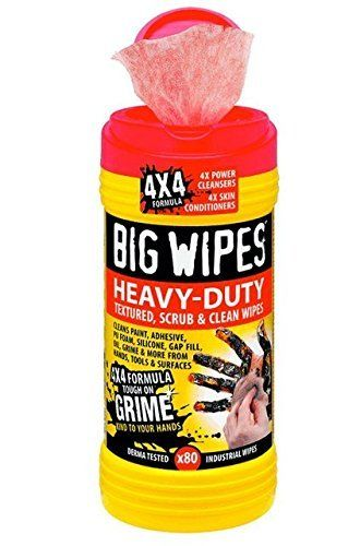 BIG WIPES Heavy Duty Industrial Textured Scrubbing Wipes (80 count)