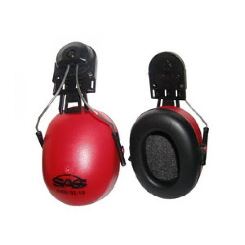 SAS Hard Hat Earmuff with Attachment Hardware