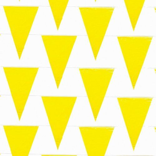 Yellow Pennant Flags, 100 Feet