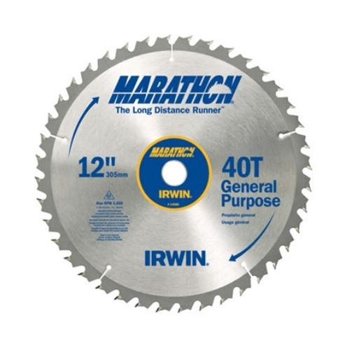 "IRWIN 12"" General Purpose Table / Mitre Saw Blade, 40T"