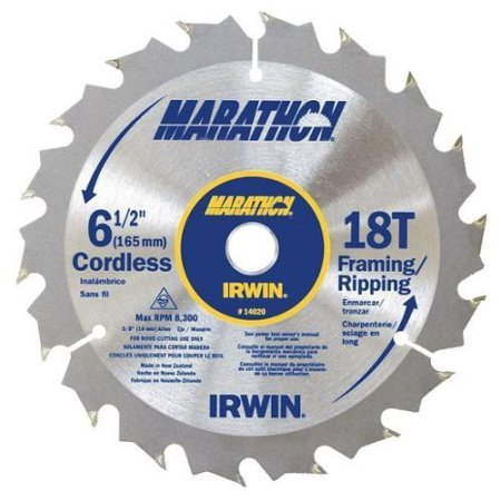 "IRWIN 6-1/2"" Framing/Ripping Saw Blade, 18T, Cordless"