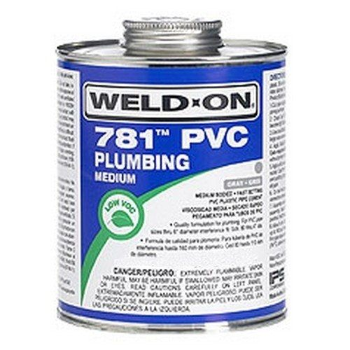 WELD-ON 781 PVC Cement, 8 oz
