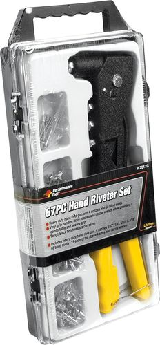 PERFORMANCE TOOL Hand Riveter Set, 67 Pc