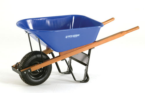 WOLVERINE 6 Cu Ft Steel Wheelbarrow w/ Flat Free Tire