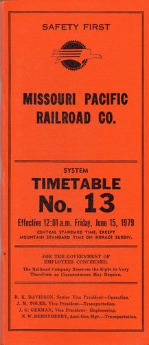 Missouri Pacific Railroad 1979