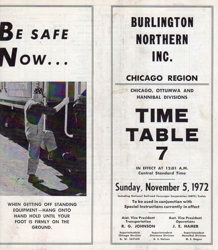 Burlington Northern Chicago Region 1972