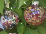 Fresh Floral Keepsake Ornaments