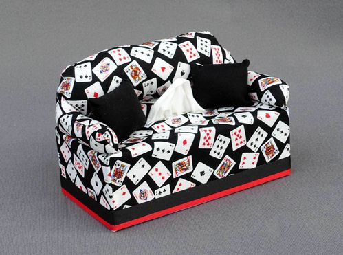 Playing Card Tissue Box Cover