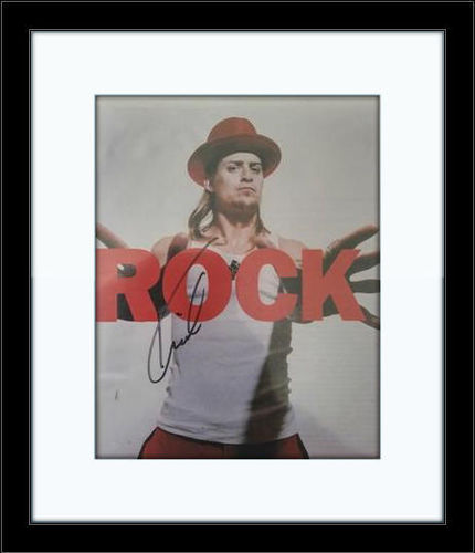 Framed Kid Rock Authentic Autograph with COA