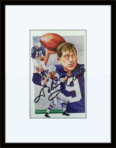 Johnny Unitas Colts Autograph On Card with COA