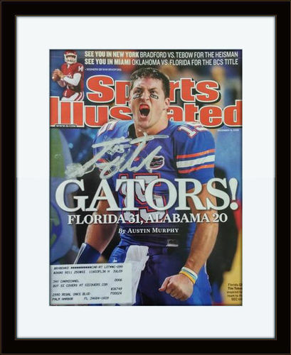 Framed Tim Tebow Autographed Magazine Cover with COA