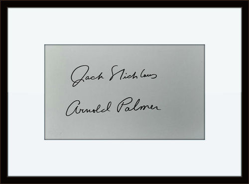 Click to open expanded view      Framed Jack Nicklaus Arnold Palmer Autograph with COA