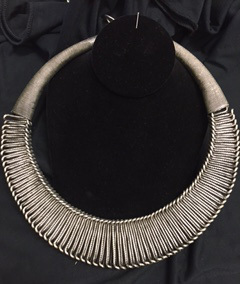 Tuareg Silver ringed necklace