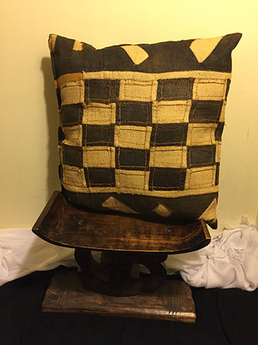 Hand crafted Kuba Cloth pillow