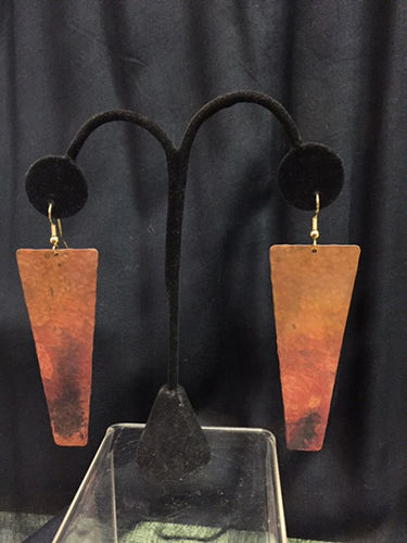 Oxidized Copper Earrings