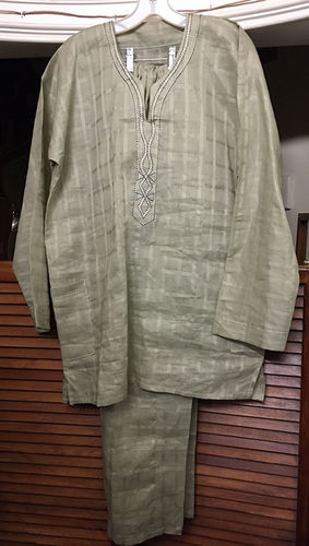 Light Olive Linen 2 piece outfit Large
