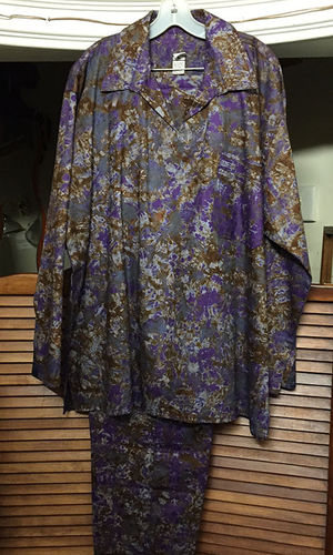 Purple Gold tie dye 2 piece outfit XL