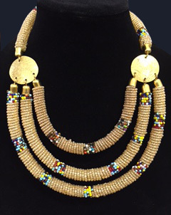 Kenyan Beaded Necklace -2