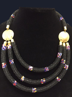Kenyan Beaded Necklace -5