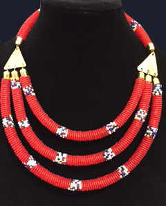 Kenyan Beaded Necklace -7