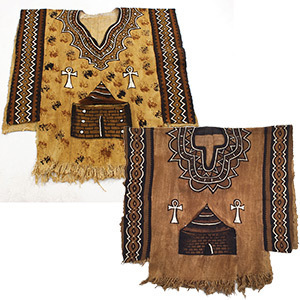 Ankh mud cloth poncho