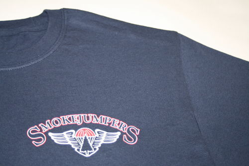 NEW smokejumpers t-shirt with logo on left chest