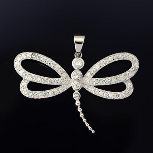Shiny objects dragonfly pendants cz dragonfly pendant mozeypictures Images