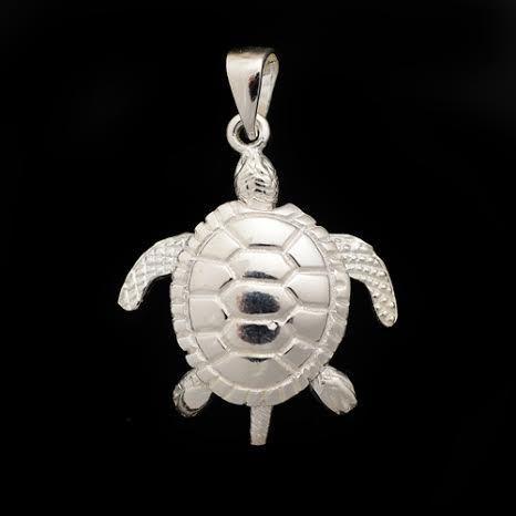 Shiny objects turtle pendants sterling silver turtle pendant aloadofball Gallery