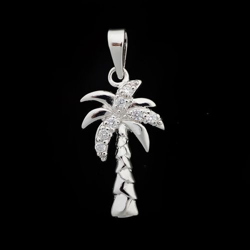 Shiny objects palm tree pendants cz palm tree pendant aloadofball Choice Image